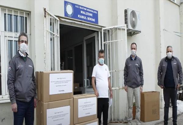 Ürettiğimiz  7000 adet koruyucu maskeyi Bursa'daki 9 hastaneye ulaştırdık