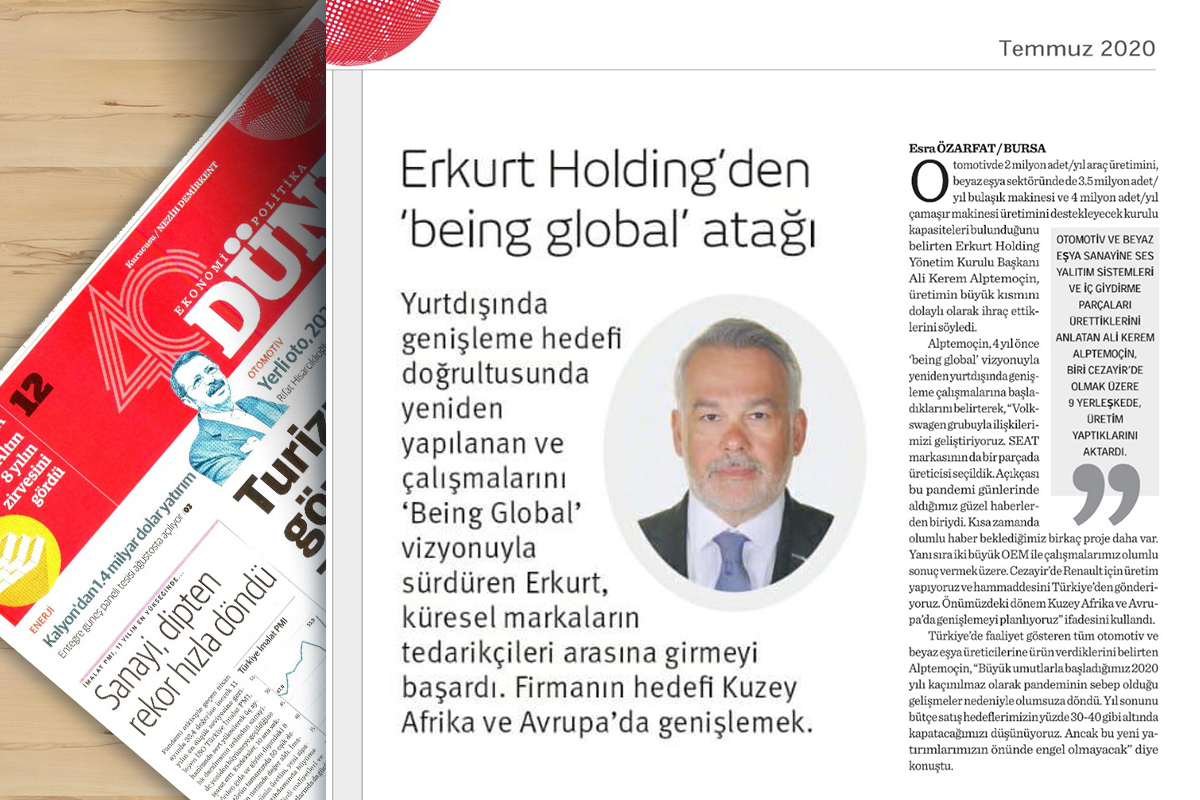 ERKURT HOLDİNG'DEN 'BEING GLOBAL' ATAĞI